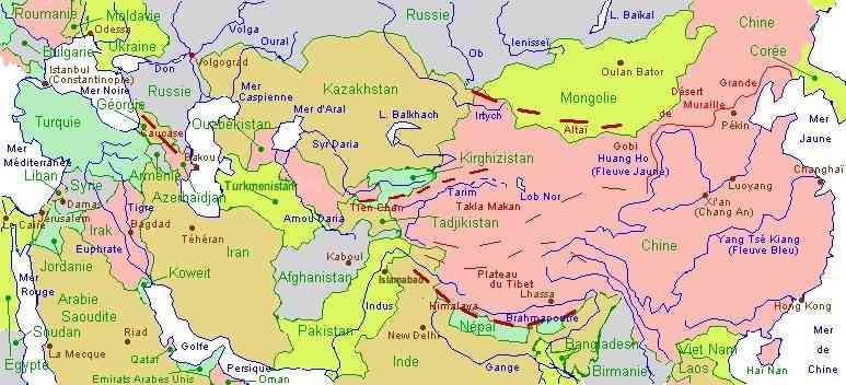 asie centrale carte