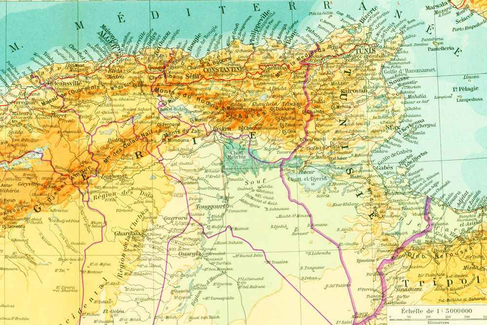 atlas afrique du nord