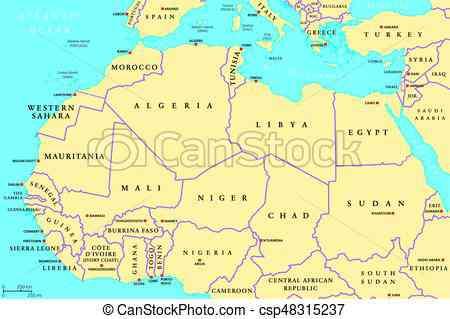 carte afrique nord