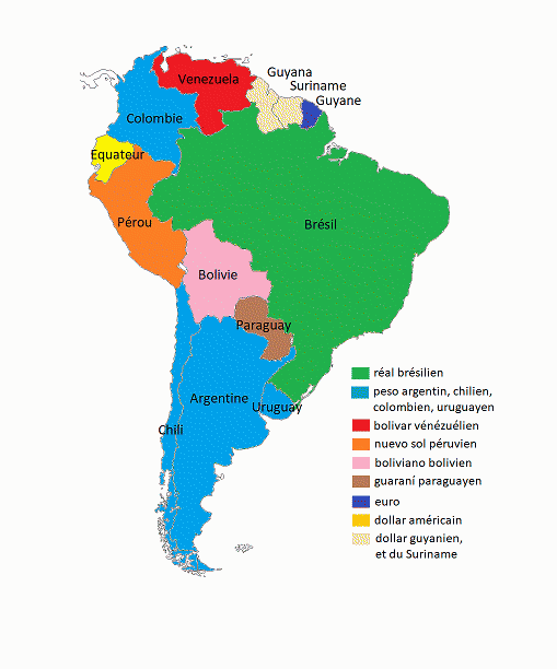 carte amerique du sud