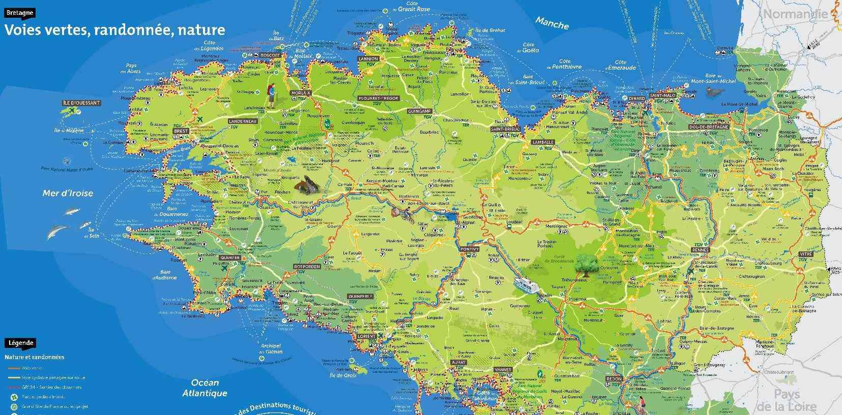 carte bretagne sud