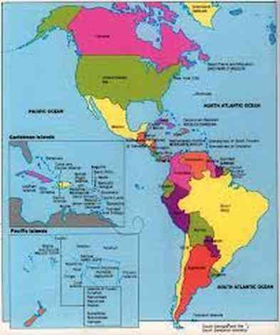 carte d amerique
