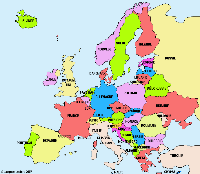 carte d europe images et photos