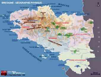 carte de bretagne geographie