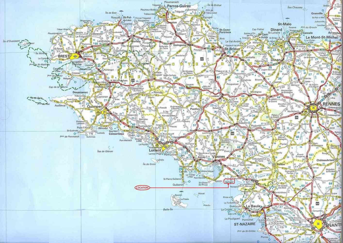 carte de bretagne nord
