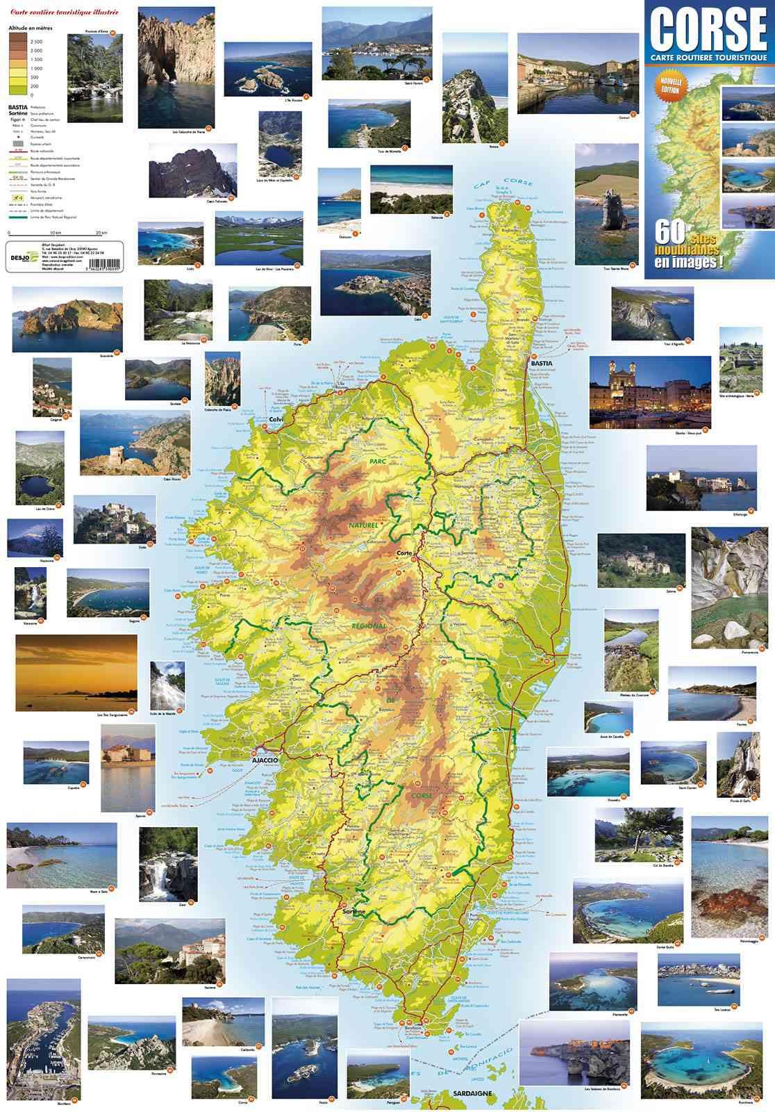 carte de corse touristique