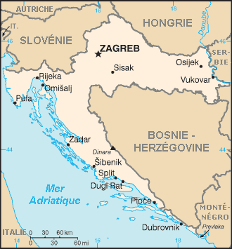 carte de croatie
