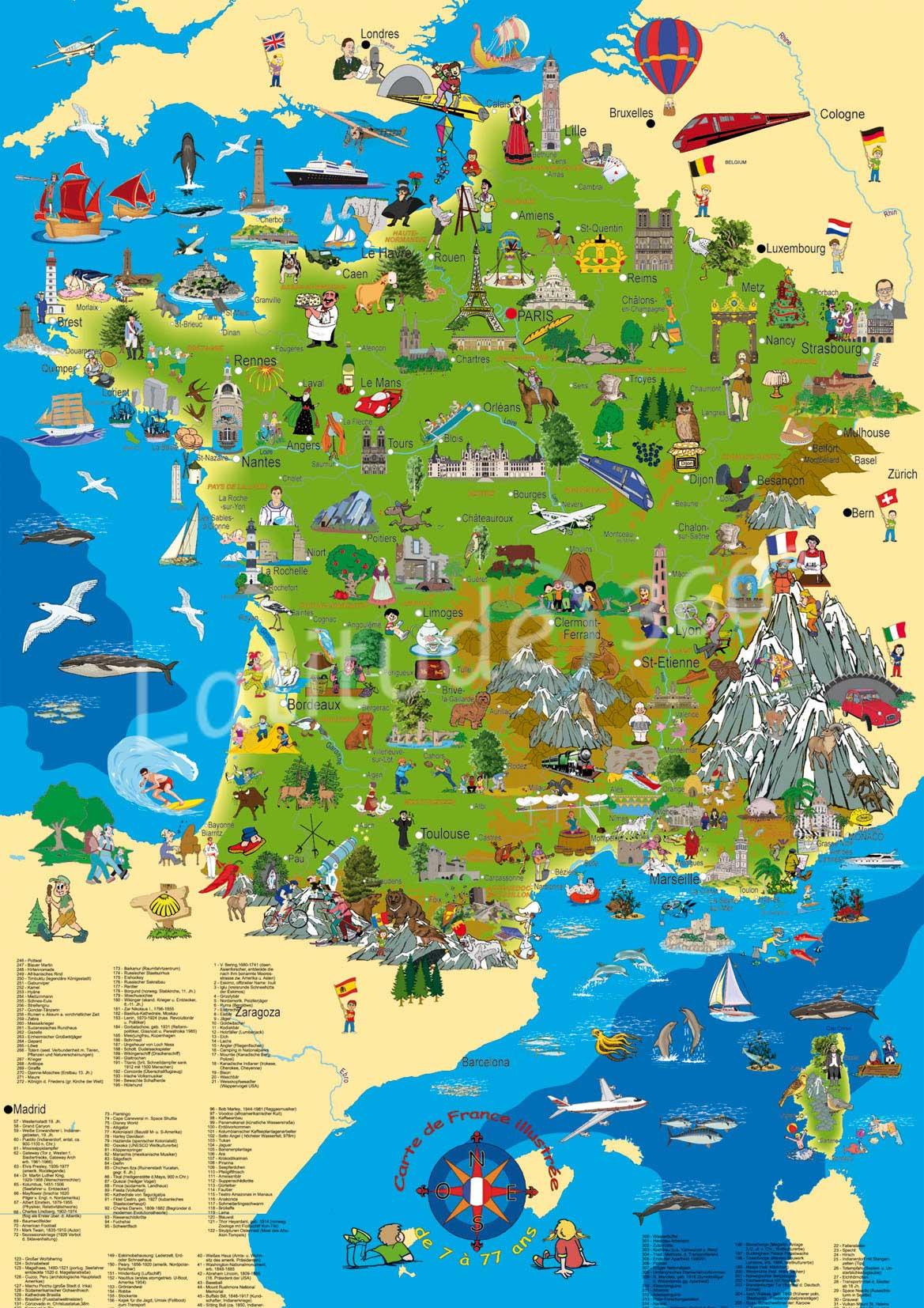 carte de france guide vacances