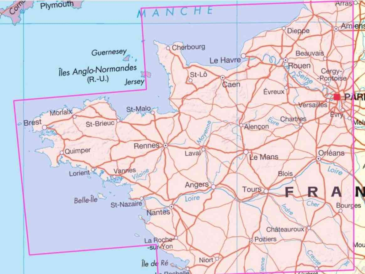 carte de france nord