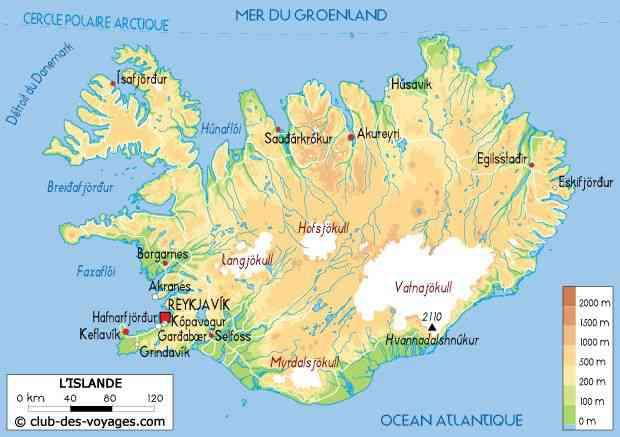 carte de l islande