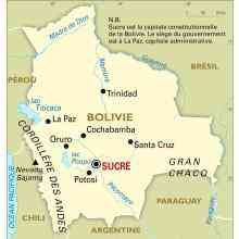 carte de la bolivie