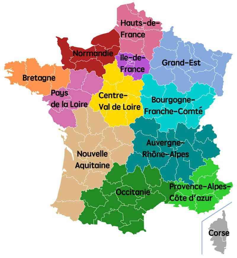 carte de la corse region de france