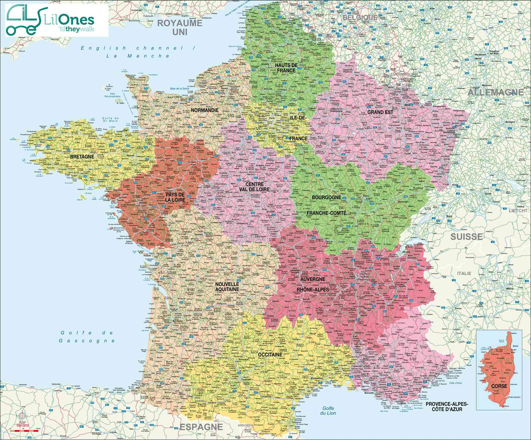 Carte de la France » Vacances - Guide Voyage
