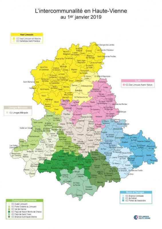 Carte de la Haute Vienne » Vacances - Guide Voyage