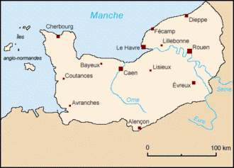 carte de la normandie