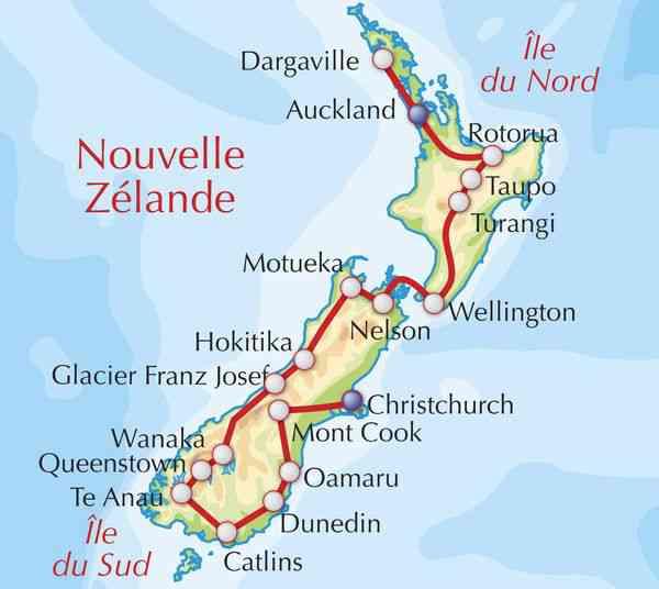 carte de la nouvelle zelande