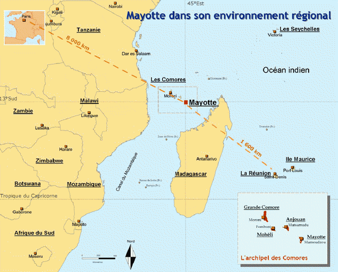 carte de mayotte