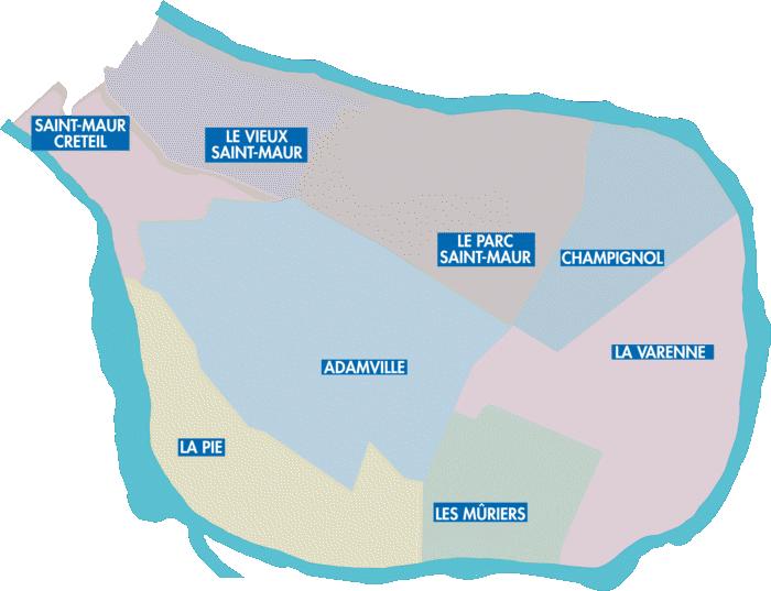 carte de saint maur des fosses
