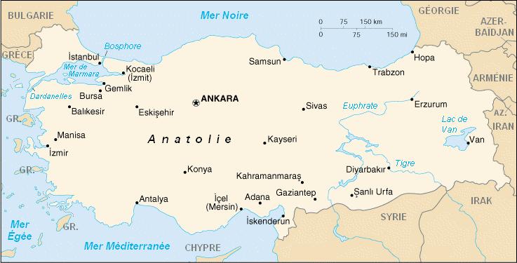 carte de turquie