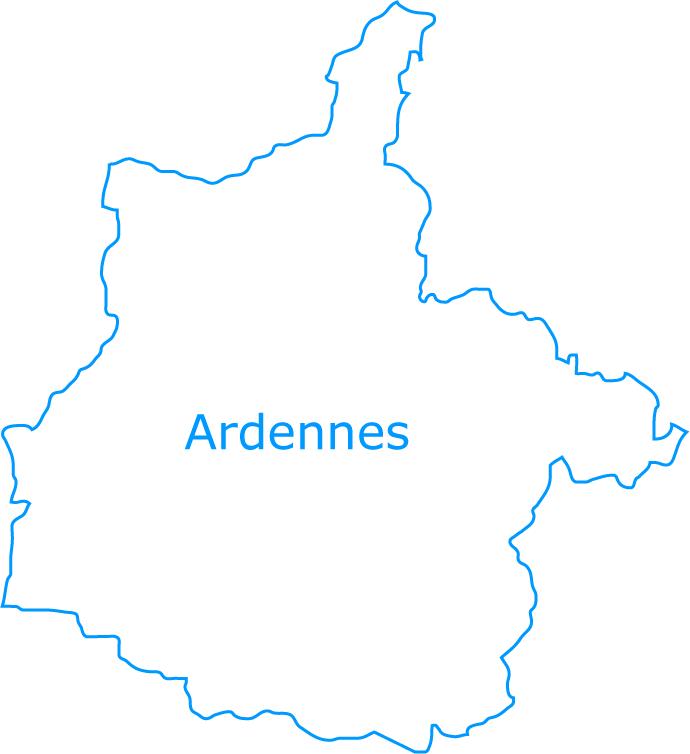 carte departement ardennes