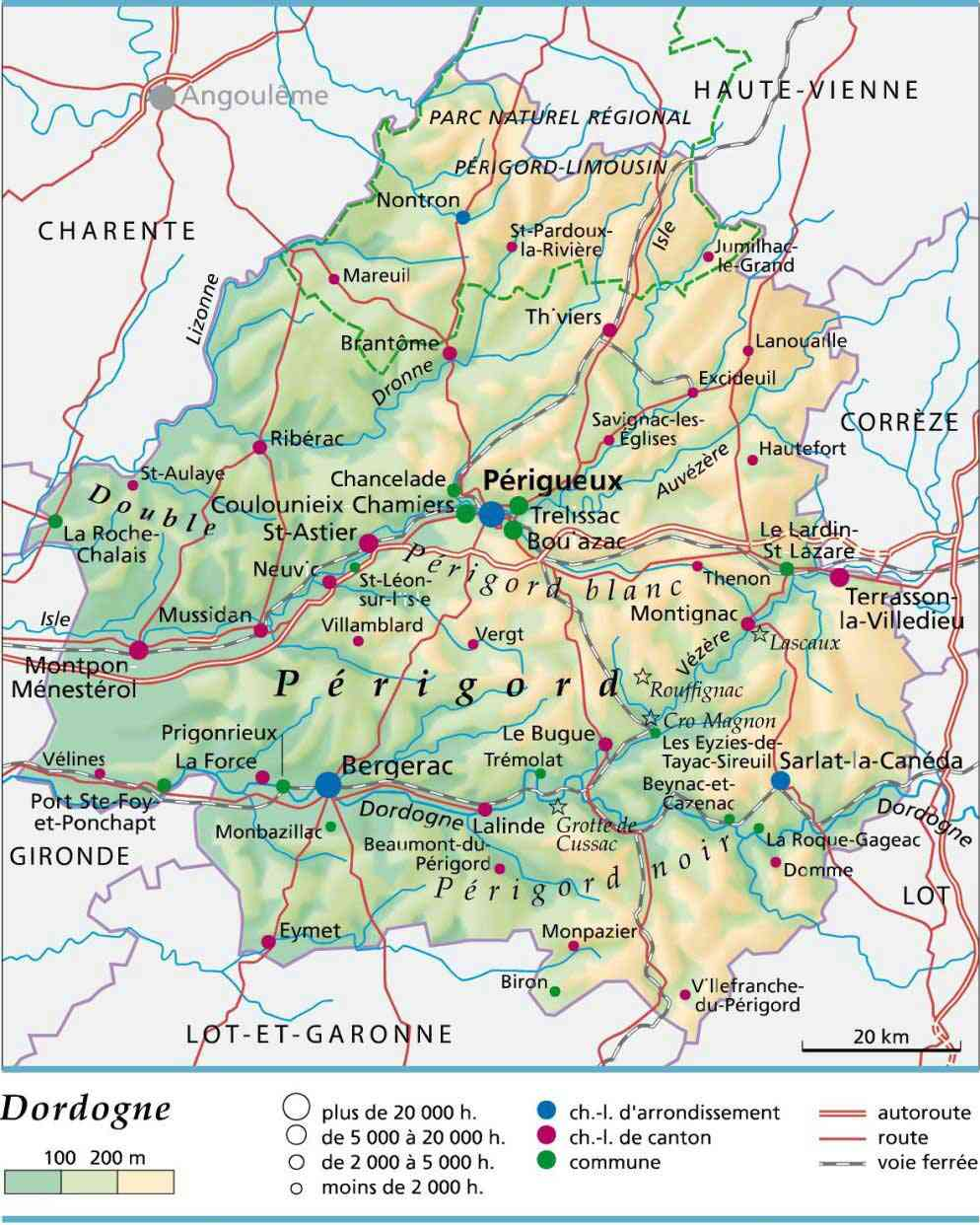 carte departement dordogne