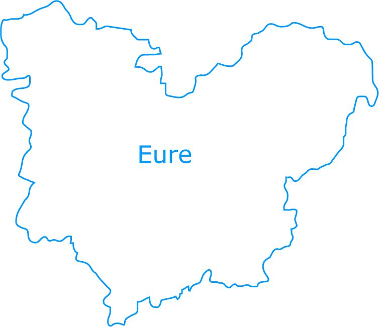 carte departement eure
