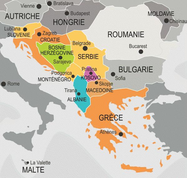 carte des balkans