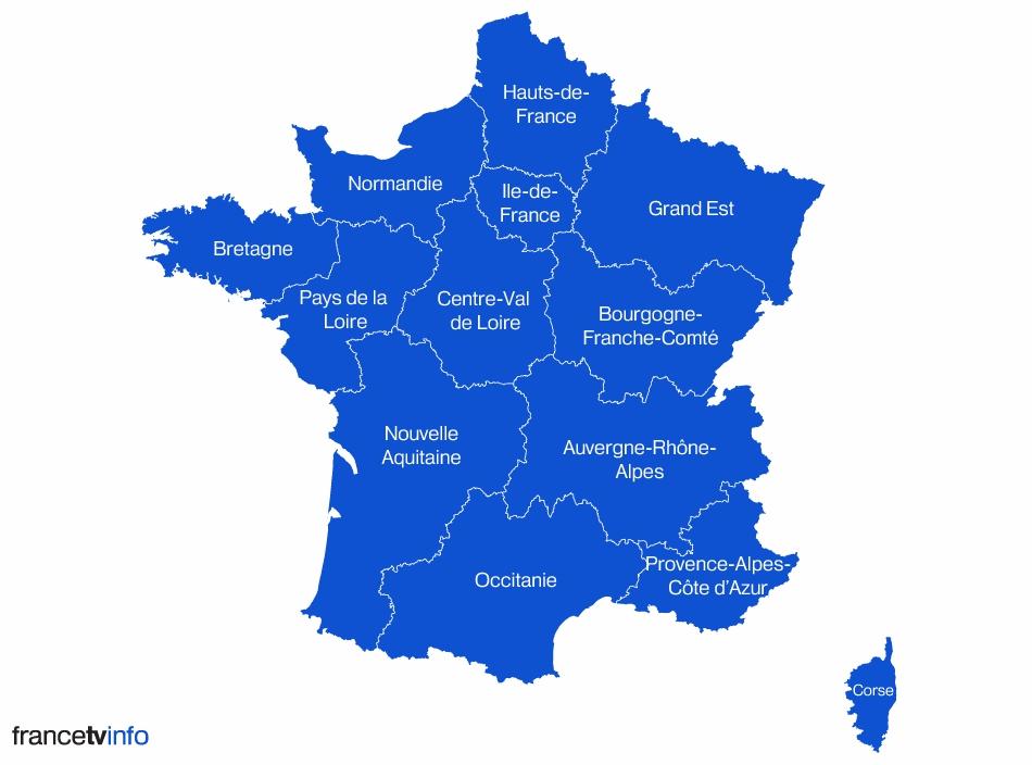 carte des regions de france