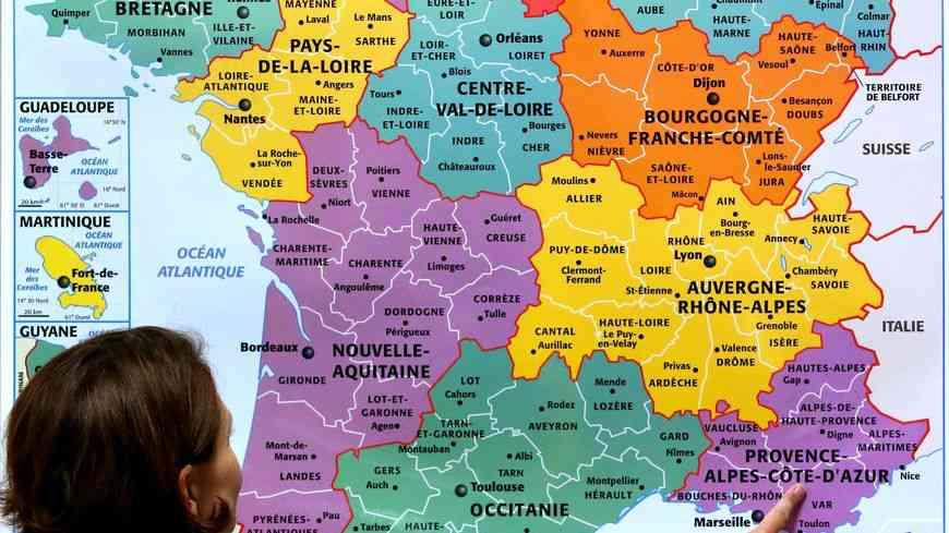 carte des regions en france