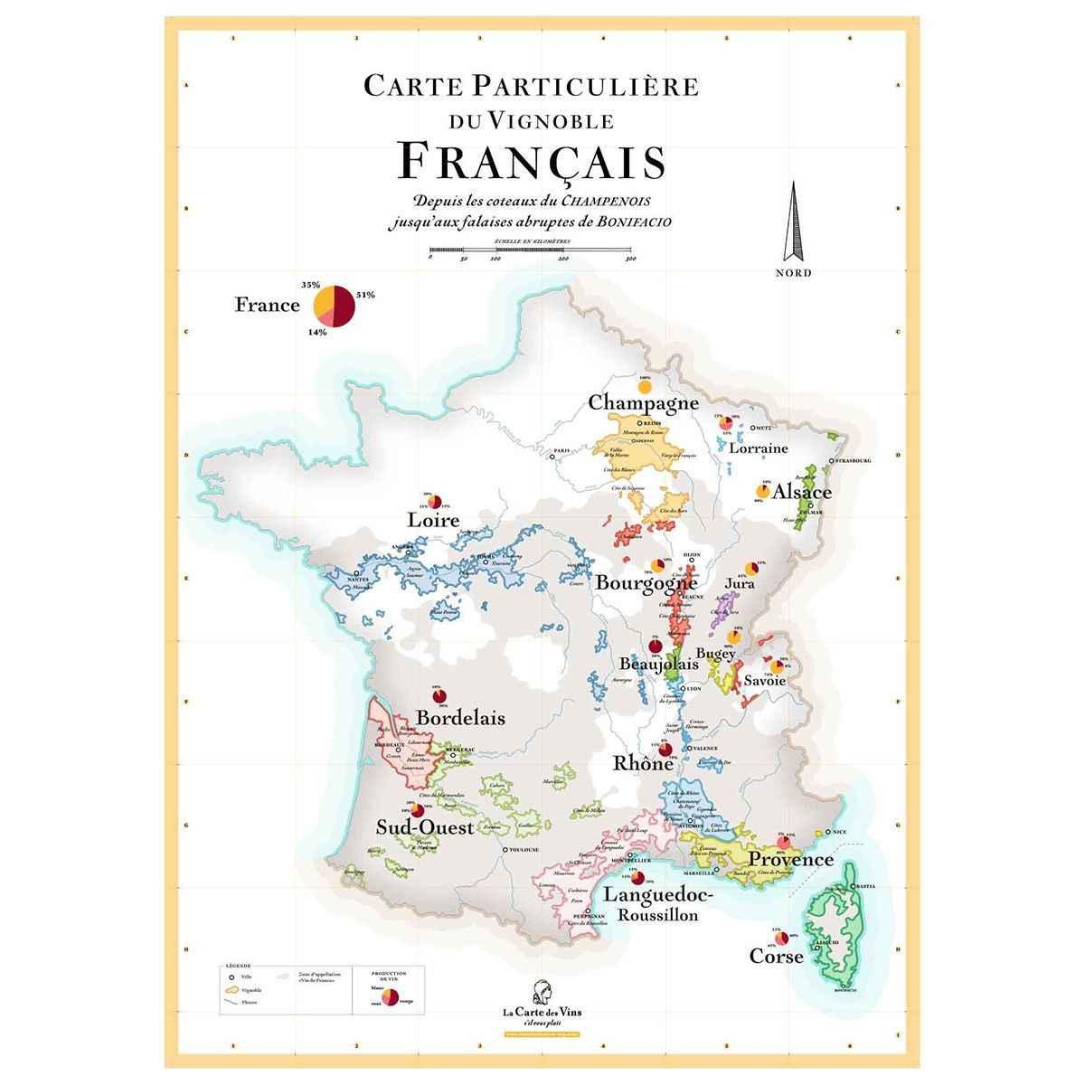 carte des vignobles francais