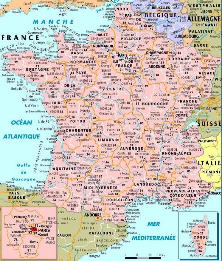 carte des villes