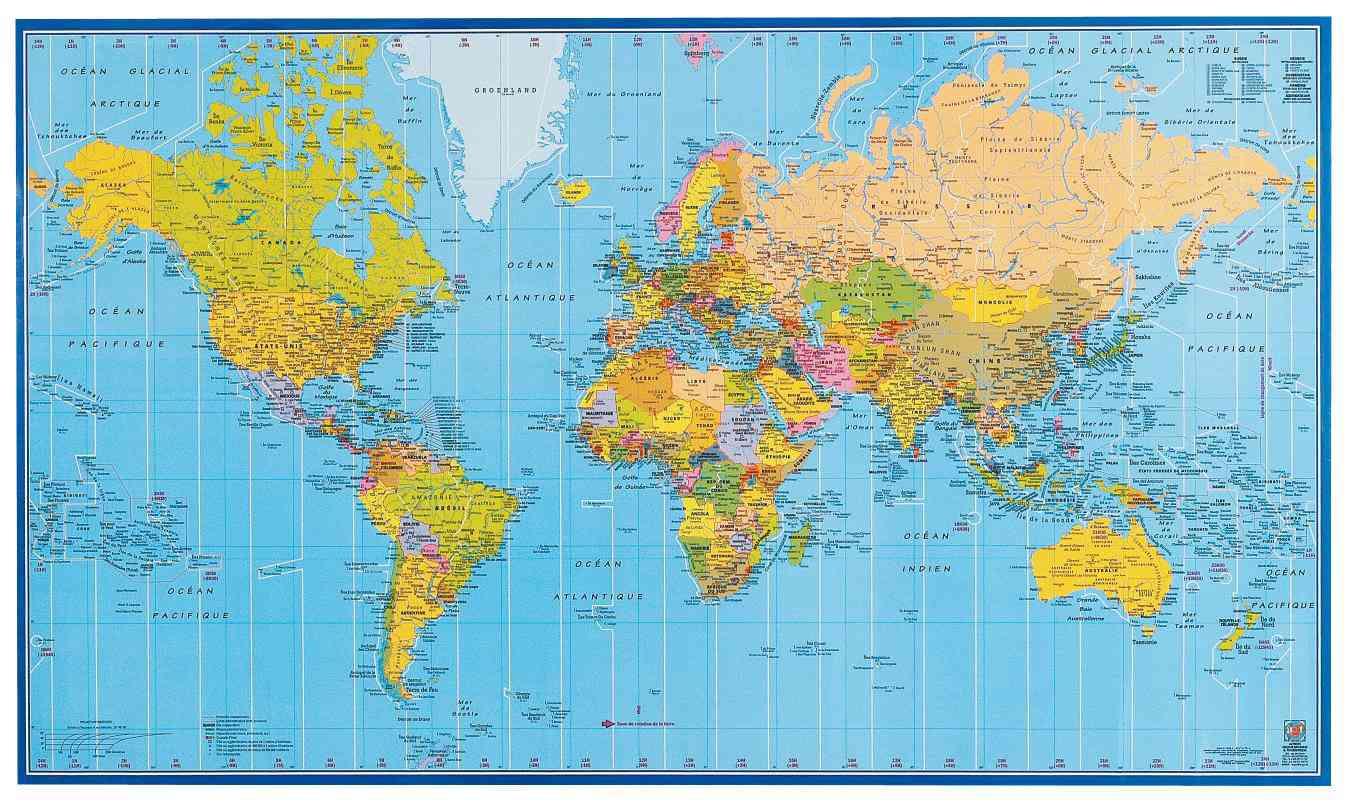 carte du monde atlas