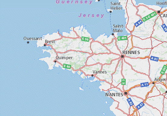 carte du nord de la bretagne