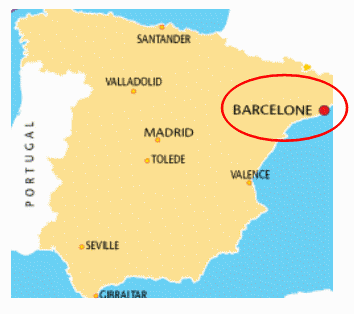 carte espagne barcelone