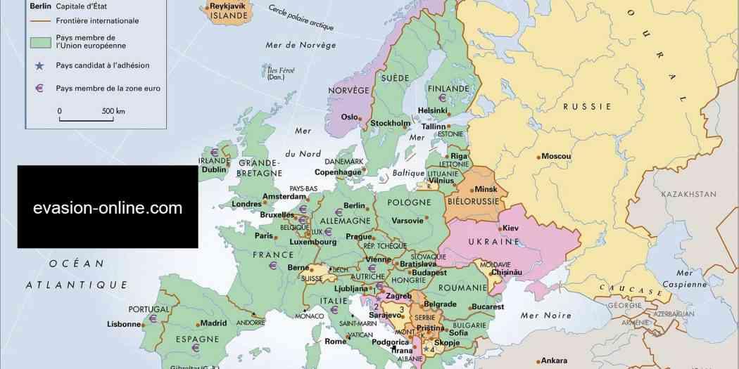 carte europe de l est images