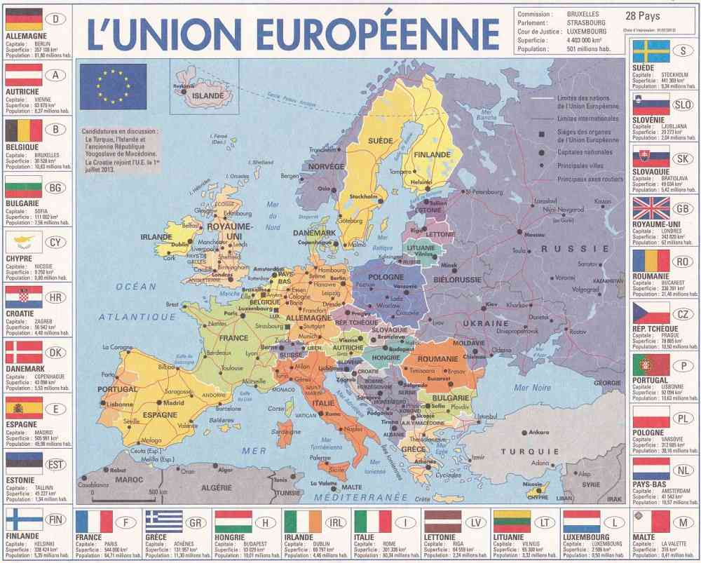 carte europe geographie des pays