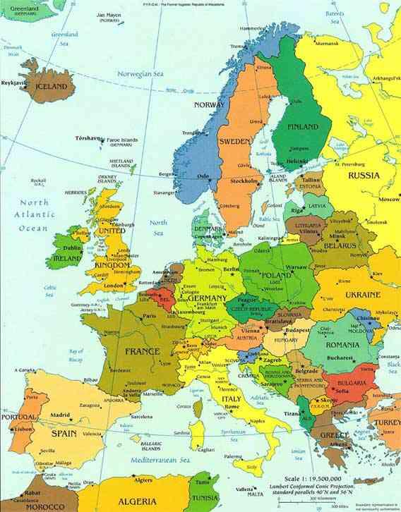 carte europe images et photos