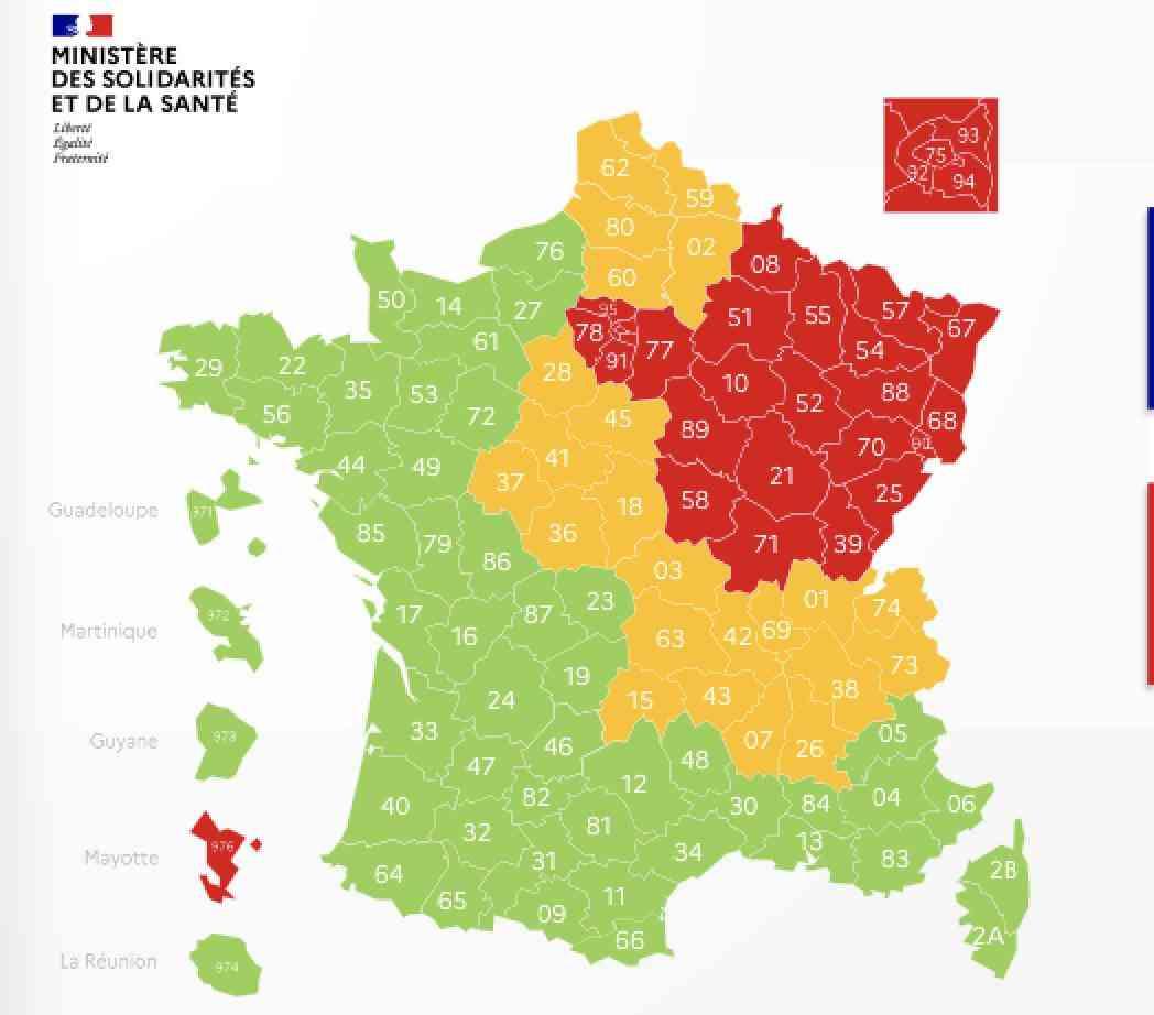 carte france departements