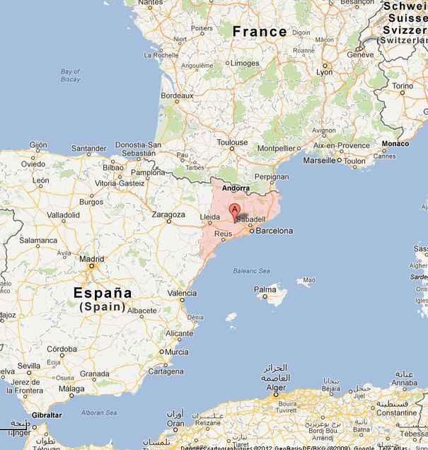 Carte France - Espagne » Vacances - Guide Voyage