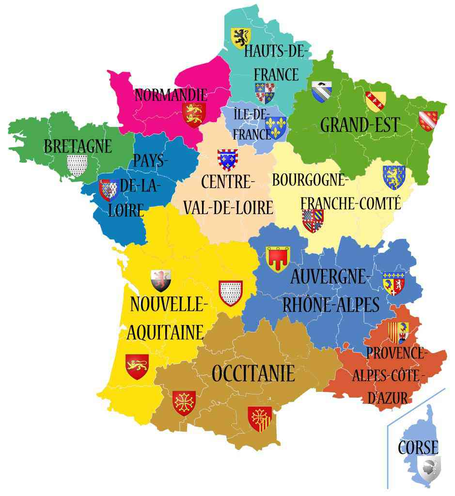 carte france regions