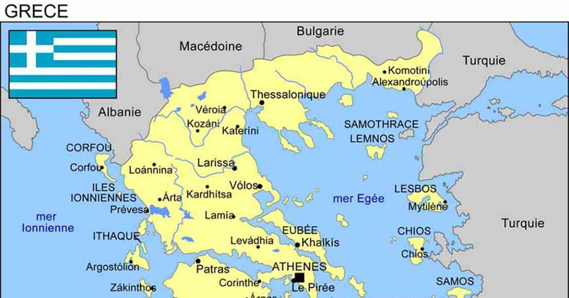 carte grece images