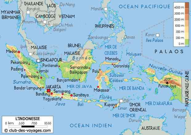 carte indonesie