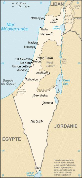 Carte Israel » Vacances - Guide Voyage