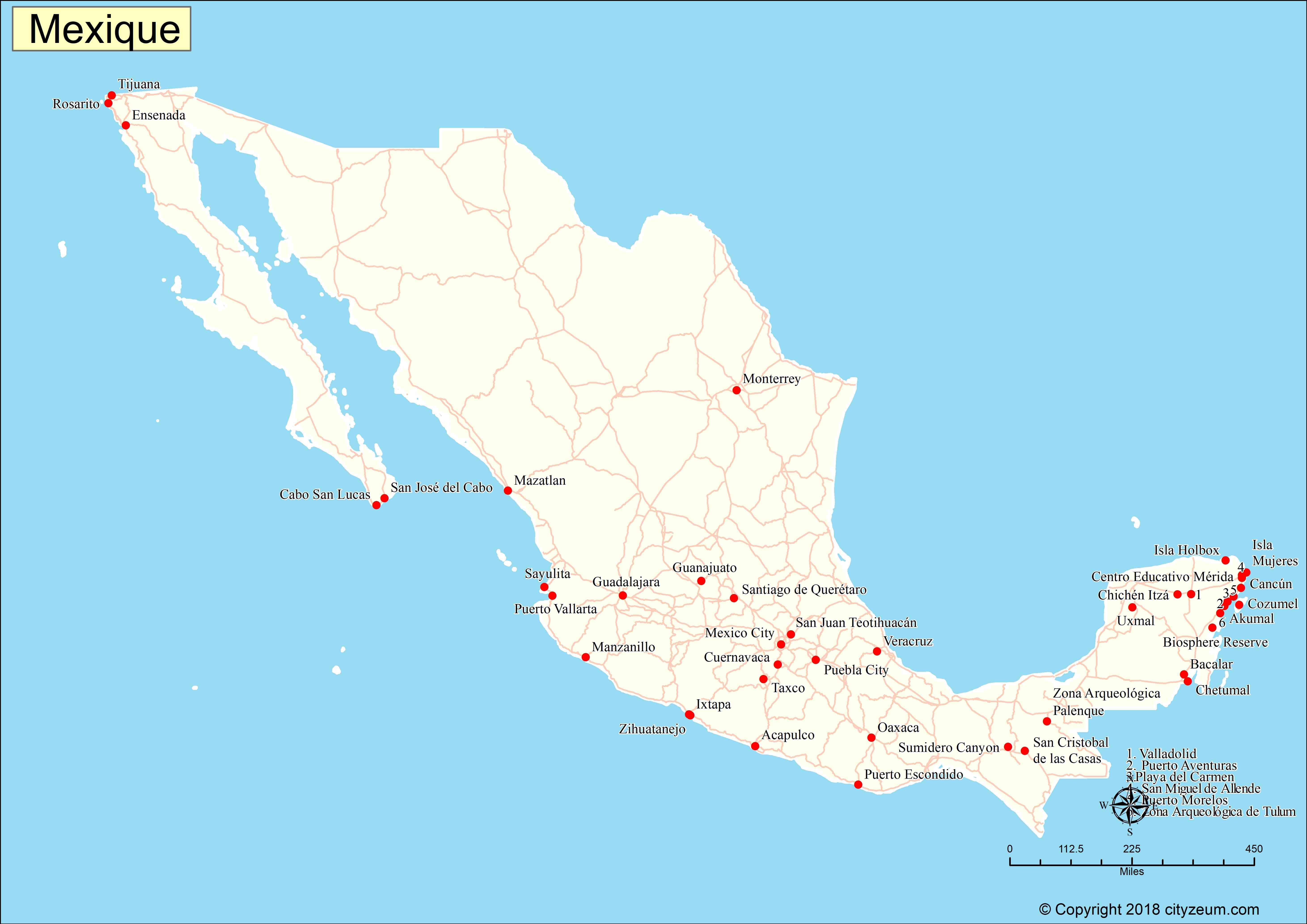 carte mexique
