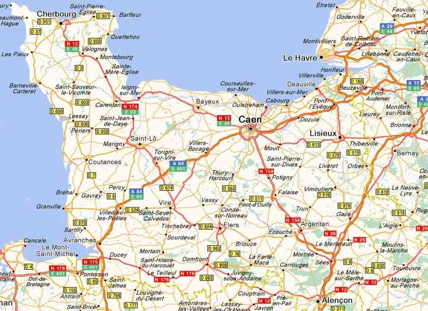 carte region basse normandie