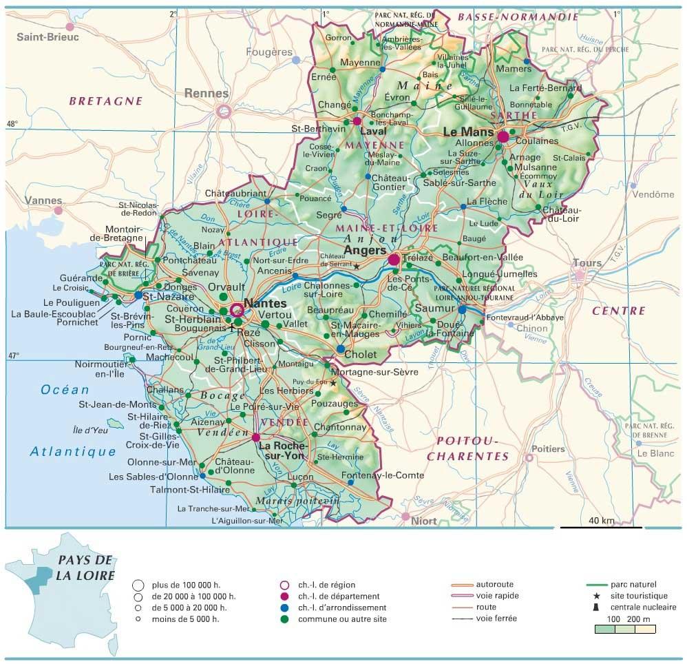 carte region pays de la loire