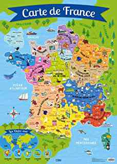 carte touristique de france
