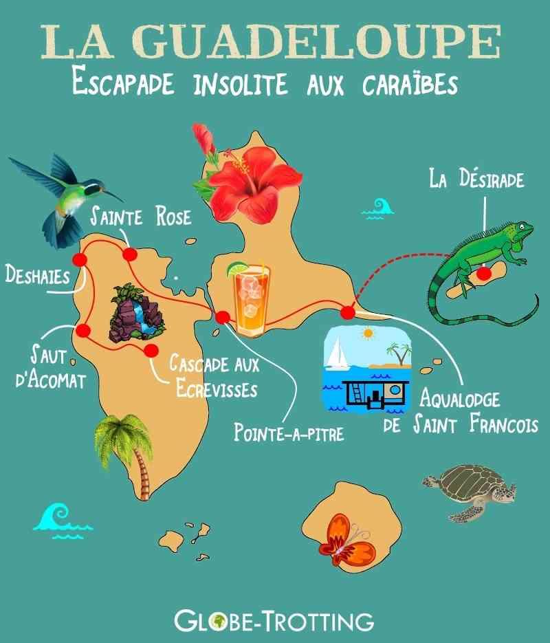 carte touristique de guadeloupe