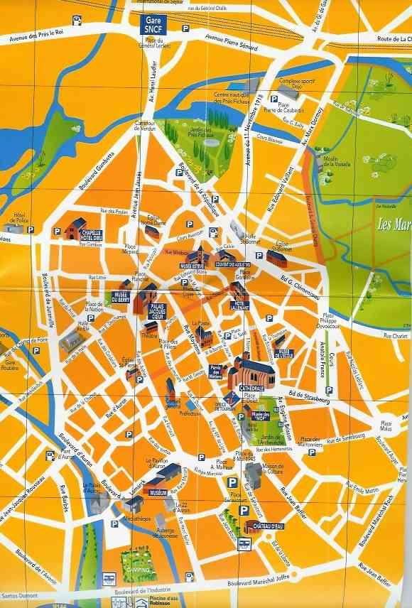 carte ville de bourges