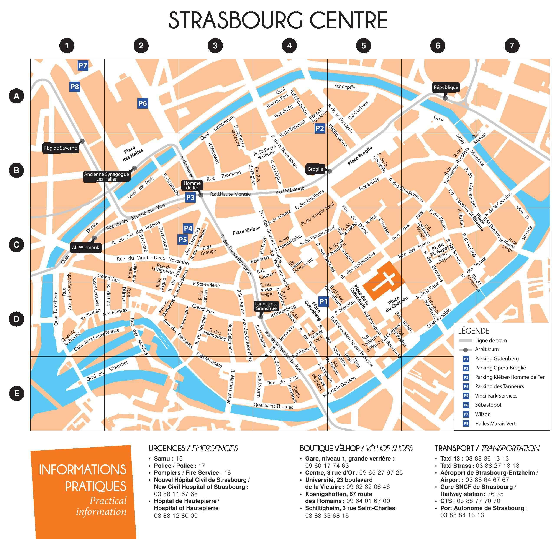 carte ville de strasbourg